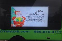 Festival of Trees Event glowing Ad