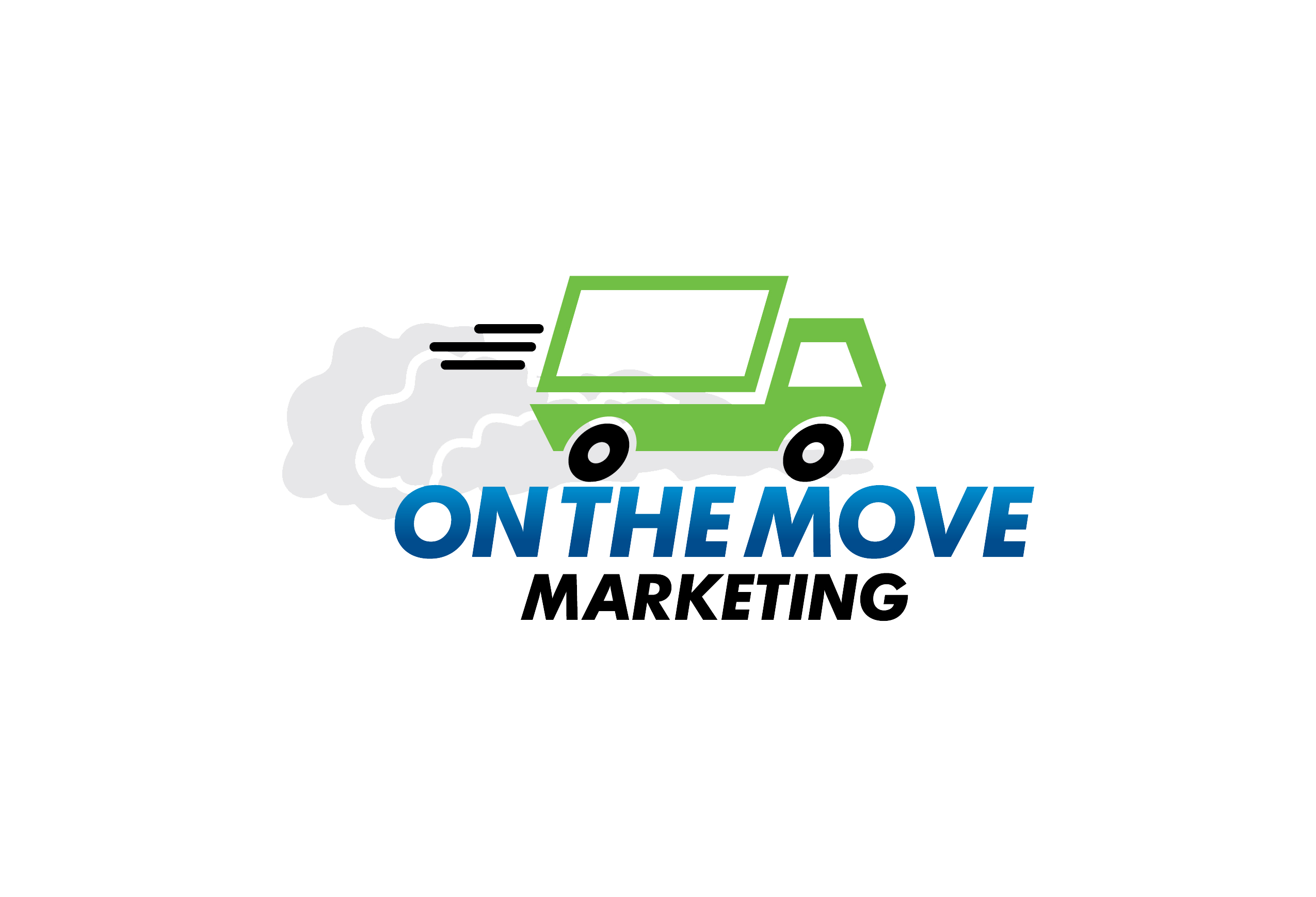 Background Image On The Move Marketing Logo