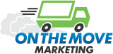 On The Move Marketing Logo Navigation Bar Left